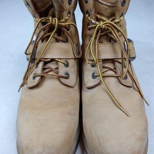Lugz Men's Work Boots Size 10 Golden Wheat/Bark/Ta